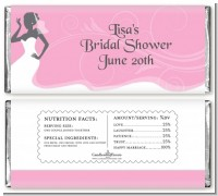 Bridal Silhouette African American - Personalized Bridal Shower Candy Bar Wrappers