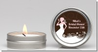 Bridal Silhouette Floral Pink - Bridal Shower Candle Favors