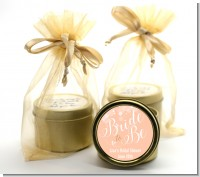 Bride To Be - Bridal Shower Gold Tin Candle Favors