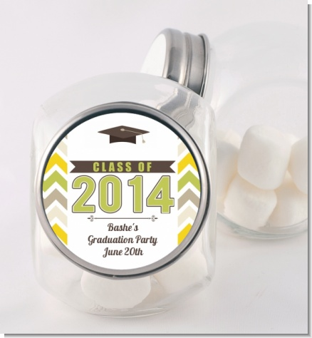 Brilliant Scholar - Personalized Graduation Party Candy Jar