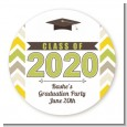 Brilliant Scholar - Round Personalized Graduation Party Sticker Labels thumbnail