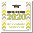 Brilliant Scholar - Square Personalized Graduation Party Sticker Labels thumbnail