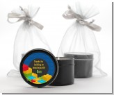Building Blocks - Birthday Party Black Candle Tin Favors