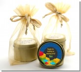 Building Blocks - Birthday Party Gold Tin Candle Favors
