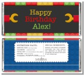 Building Blocks - Personalized Birthday Party Candy Bar Wrappers