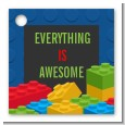 Building Blocks - Personalized Birthday Party Card Stock Favor Tags thumbnail