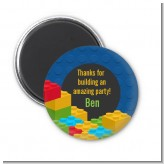 Building Blocks - Personalized Birthday Party Magnet Favors