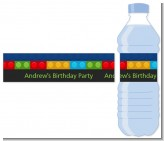 Building Blocks - Personalized Birthday Party Water Bottle Labels