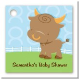 Bull | Taurus Horoscope - Personalized Baby Shower Card Stock Favor Tags