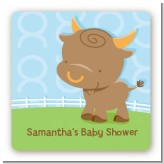 Bull | Taurus Horoscope - Square Personalized Baby Shower Sticker Labels