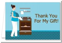 Bun in the Oven Boy - Baby Shower Thank You Cards