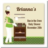 Bun in the Oven Neutral - Personalized Baby Shower Card Stock Favor Tags