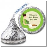 Bun in the Oven Neutral - Hershey Kiss Baby Shower Sticker Labels
