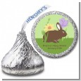 Bunny - Hershey Kiss Baby Shower Sticker Labels thumbnail