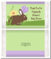 Bunny - Personalized Popcorn Wrapper Baby Shower Favors