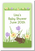 Bunny - Custom Large Rectangle Baby Shower Sticker/Labels