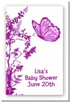 Butterfly - Custom Large Rectangle Baby Shower Sticker/Labels