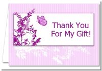 Butterfly - Baby Shower Thank You Cards