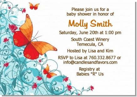 Butterfly Wishes - Birthday Party Invitations