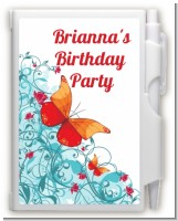 Butterfly Wishes - Birthday Party Personalized Notebook Favor
