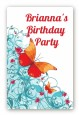 Butterfly Wishes - Custom Large Rectangle Birthday Party Sticker/Labels thumbnail