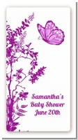 Butterfly - Custom Rectangle Baby Shower Sticker/Labels