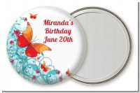 Butterfly Wishes - Personalized Birthday Party Pocket Mirror Favors