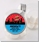 Calling All Superheroes - Personalized Birthday Party Candy Jar