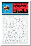 Calling All Superheroes - Custom Birthday Party Treat Bag Topper