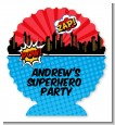 Calling All Superheroes - Personalized Birthday Party Centerpiece Stand thumbnail