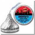 Calling All Superheroes - Hershey Kiss Birthday Party Sticker Labels thumbnail