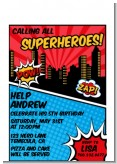 Calling All Superheroes - Birthday Party Petite Invitations