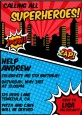 Calling All Superheroes - Birthday Party Invitations thumbnail