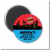 Calling All Superheroes - Personalized Birthday Party Magnet Favors