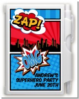 Calling All Superheroes - Birthday Party Personalized Notebook Favor