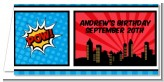Calling All Superheroes - Personalized Birthday Party Place Cards