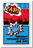 Calling All Superheroes - Custom Large Rectangle Birthday Party Sticker/Labels
