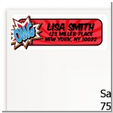 Calling All Superheroes - Birthday Party Return Address Labels
