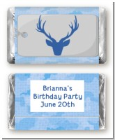 Camo Deer Head - Personalized Birthday Party Mini Candy Bar Wrappers