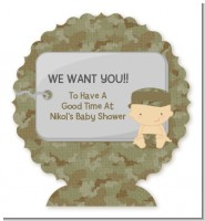 Camo Military - Personalized Baby Shower Centerpiece Stand