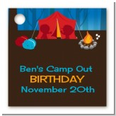 Camping - Personalized Birthday Party Card Stock Favor Tags