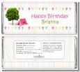 Camping Glam Style - Personalized Birthday Party Candy Bar Wrappers thumbnail