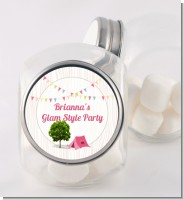 Camping Glam Style - Personalized Birthday Party Candy Jar