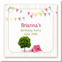 Camping Glam Style - Personalized Birthday Party Card Stock Favor Tags