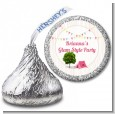 Camping Glam Style - Hershey Kiss Birthday Party Sticker Labels thumbnail