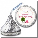 Camping Glam Style - Hershey Kiss Birthday Party Sticker Labels