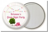 Camping Glam Style - Personalized Birthday Party Pocket Mirror Favors