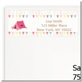 Camping Glam Style - Birthday Party Return Address Labels
