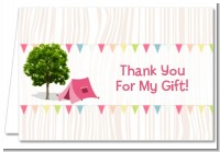 Camping Glam Style - Birthday Party Thank You Cards