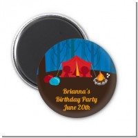Camping - Personalized Birthday Party Magnet Favors
